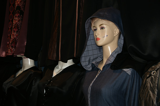 Fashion mannequin in the market street, The Old City 2010
