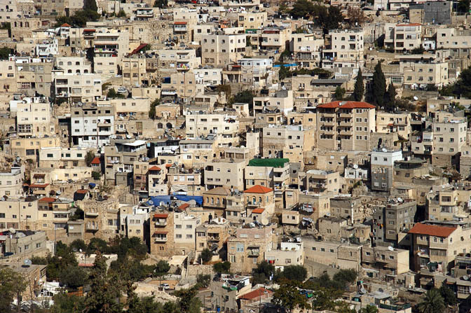 Houses in Silwan neighborhood , on the slopes of Mount of Olives, 2009
