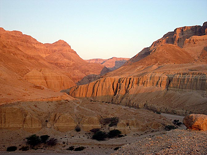 The great canyon of Zeelim Creek at sunrise, 2002