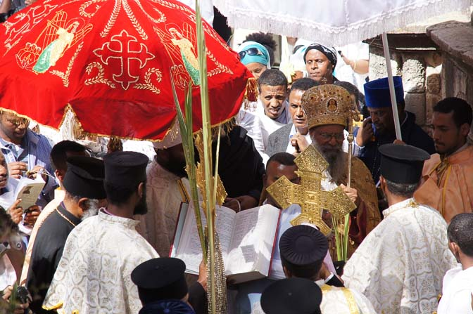 The Ethiopian Orthodox ceremony in Deir al Sultan, on the roof of the Chapel of St. Helena of the Holy Sepulcher, Jerusalem 2012