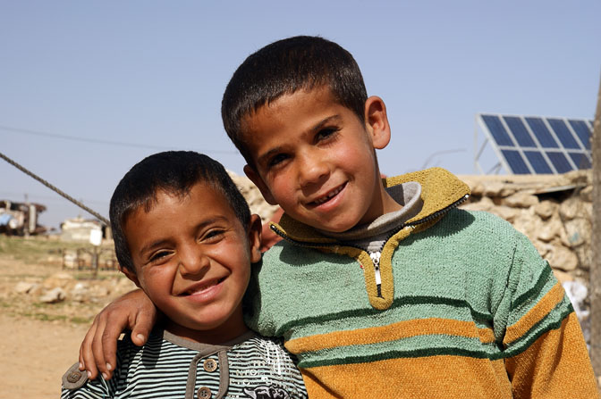 Muhammad and Shuayb, Bedouin boys, Umm Al-Kheir 2011
