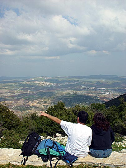 The view from the Neriya observation point, Mount Meiron, The Israel National Trail, The Upper Galilee 2003