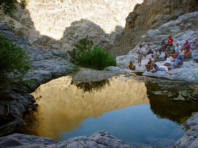Break of day reflection in Wadi Feid, 2003