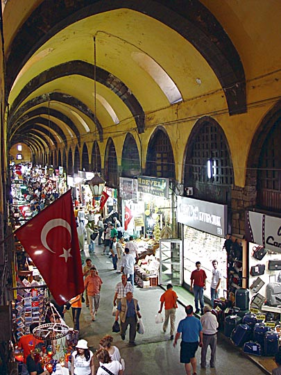 Inside the roofed Egyptian Market in Eminonu, 2003