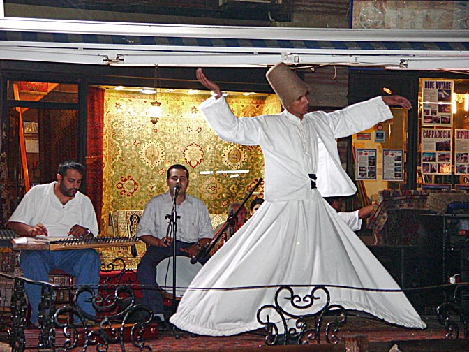 A whirling Dervish at Cafe Meshale, 2003