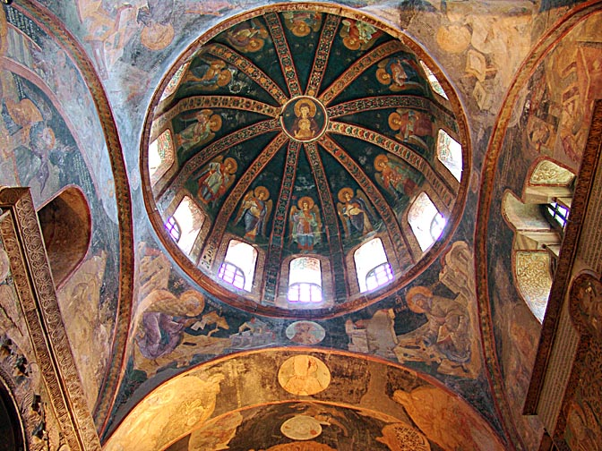 Christus Pantocrator' inside the dome of the Chora Museum, 2006