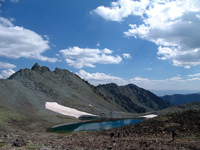 The view of the Nameless Lake, on the descent from the Kachkar peak, 2005