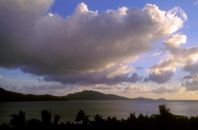 Hamilton Island at twilight, the Great Barrier Reef 1998