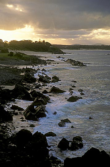 Sunset at Forster beach, the Great Lakes, north of Sydney, New South Wales 2000