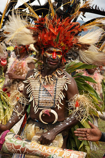 A man from Goroka in the Eastern Highland Province, at The Hagen Show 2009