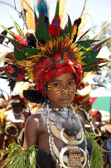 A girl from Chimbu Province, at The Goroka Show 2009