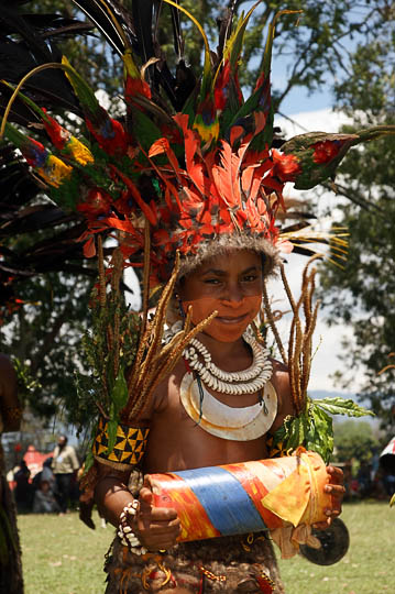 A girl from Goroka in the Eastern Highland Province, at The Goroka Show 2009
