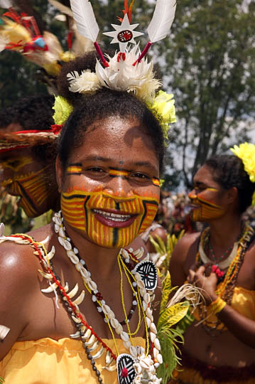A young lady from Port Moresby in the Central Province, at The Goroka Show 2009