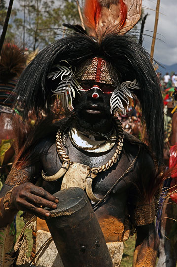 A Bundi ghost man from Madang Province, at The Hagen Show 2009