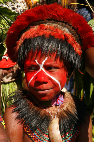 A girl from Hagen Central in the Western Highland Province, at The Goroka Show 2009