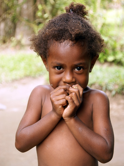 A sweet girl in the Kokoda Block, The Kokoda Trek 2009