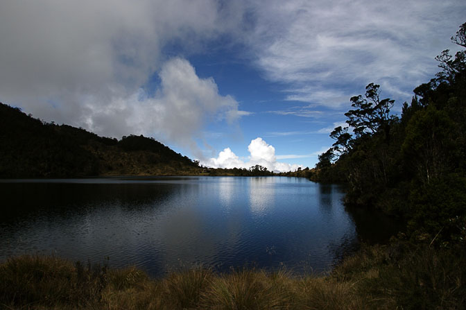 The lake in the base camp, Mount Wilhelm Climb 2009