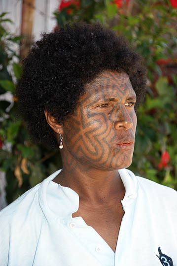 A woman with tattooed face, Tufi Jetty 2009