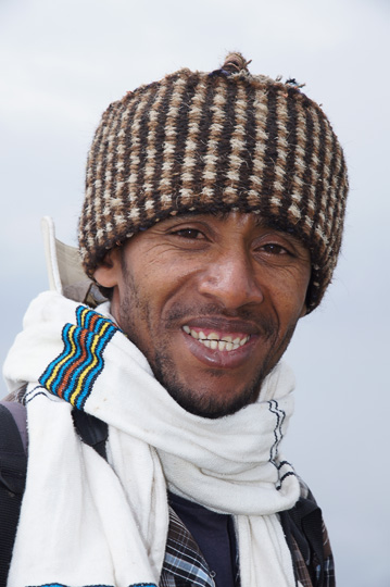 Our great trekking guide Nur (Nurlign Hassen Ibrahim), Simien Mountains National Park 2012