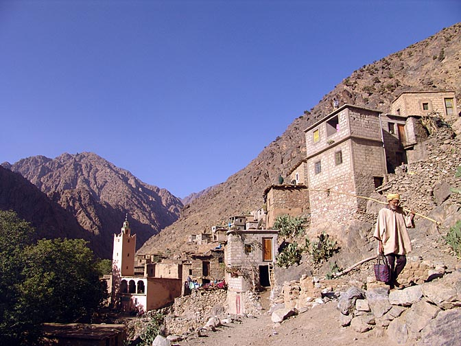 Anfli village on the banks of Setti Fatma glen, 2007