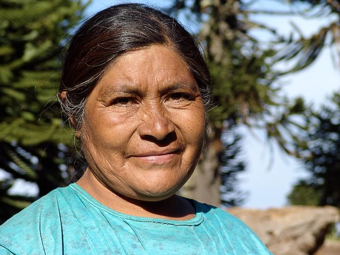 A Catalan (Mapuche) Indian woman in Lonco Luan, the Neuquen province 2004