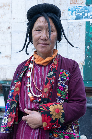 A woman at Trashigang  in eastern Bhutan, 2018