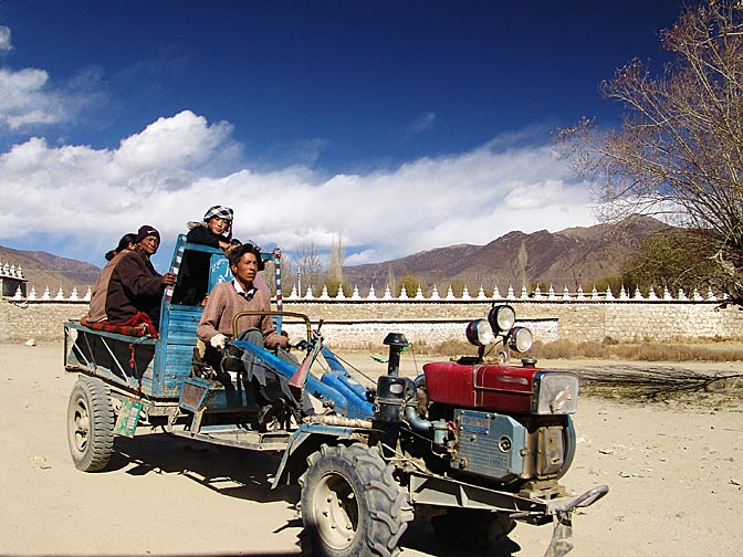 A typical transportation to Samyai Monastery, 2004