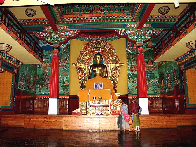 Inside the Temple at the Norbulingka in Sidhpur, 2004