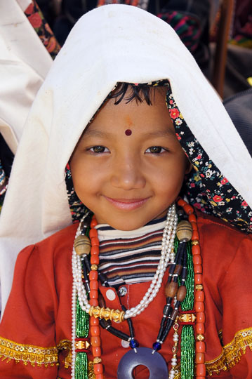 Girl in traditional Rung clothing, Pangu 2011