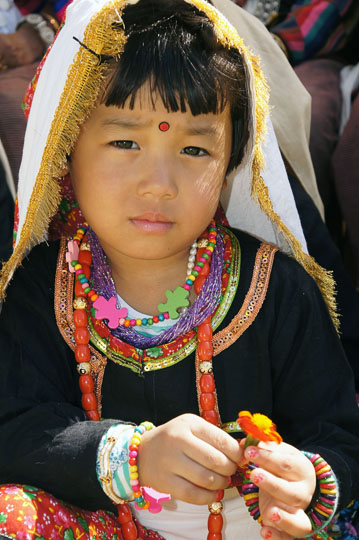 Traditionally dressed Rung girl, Pangu 2011