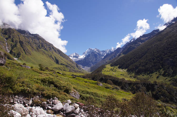Valley of the Flowers (Bhyundar Valley) after blooming season, Garhwal Himalayas 2011