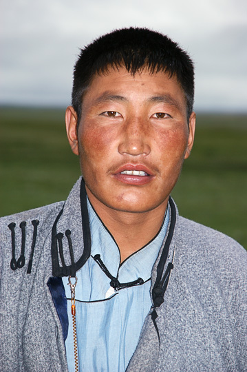 A man near Renchinlkhumbe, North Mongolia 2010