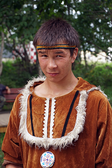 An Even young man in traditional costume, Petropavlovsk Kamchatsky 2016