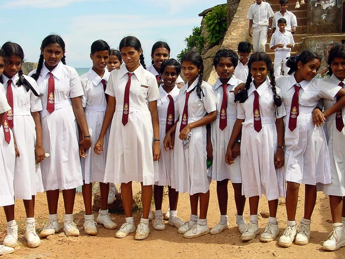 School girls in Galle, 2002