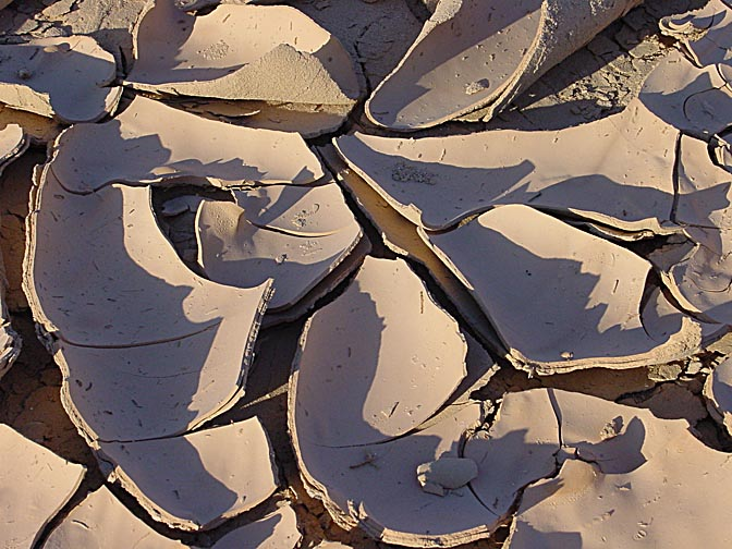 A cracked barren earth, in the Ramon Makhtesh in the Negev, Israel 2000