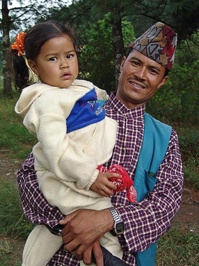 Carrying the Young in Jiri, along the Khumbu Trail to the Everest, Nepal 2004