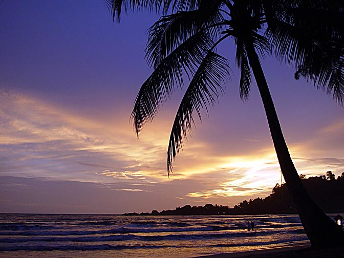 Colorufl sunset in Koh Chang, Thailand 2002