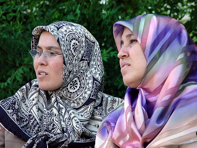 Turkish Women in a public garden in Istanbul, Turkey 2003
