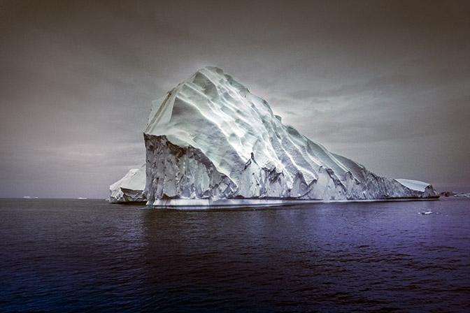 Iceberg in a gloomy night, 2017