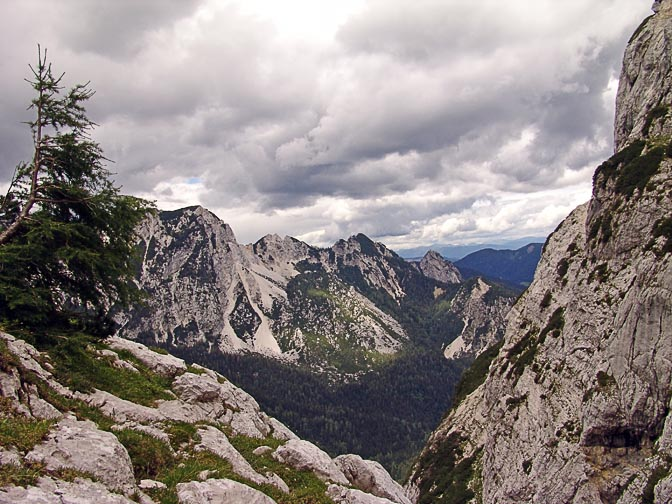 The mighty formations of the karstic Julian Alps, Triglav 2007