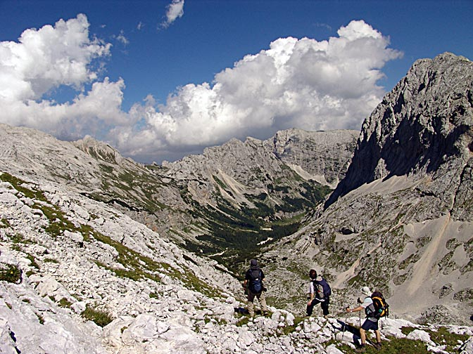 The gravel-bed basin amidst the Julian Alps, Triglav 2007