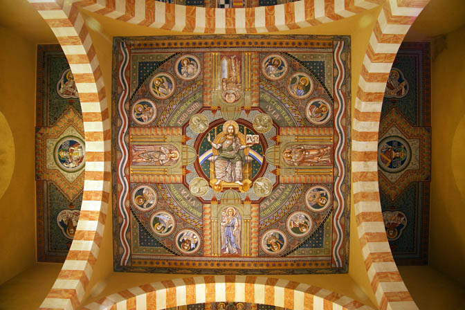 The ceiling of the Augusta Victoria Church, Mount of Olives 2011