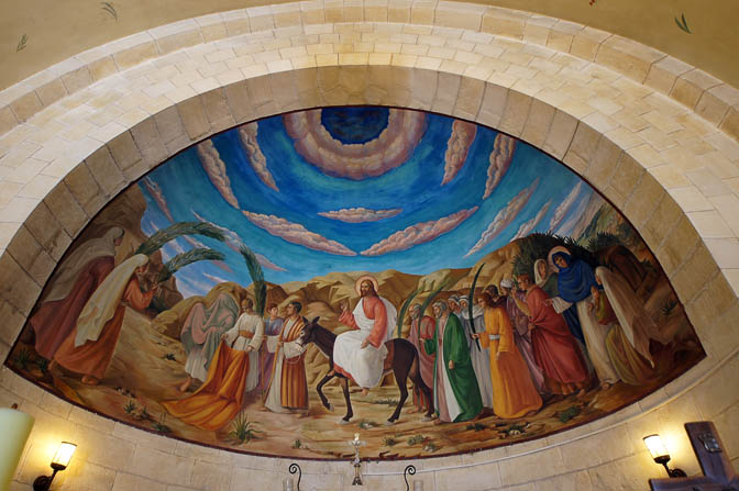 The apse mural inside the Catholic-Franciscan Church of Bethpage, Mount of Olives  2012