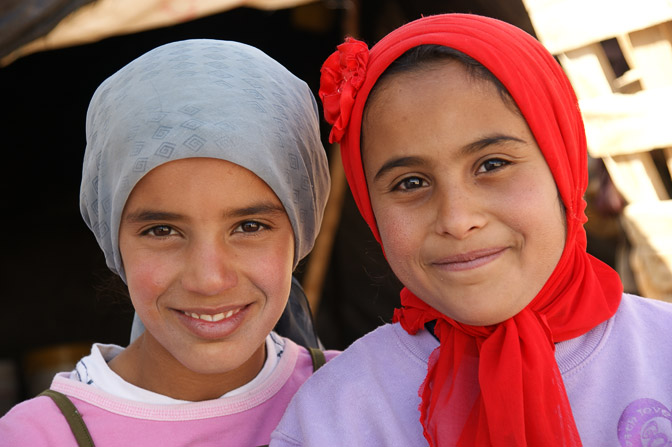 Khulud and Rime, Bedouin girls, Umm Al-Kheir 2011