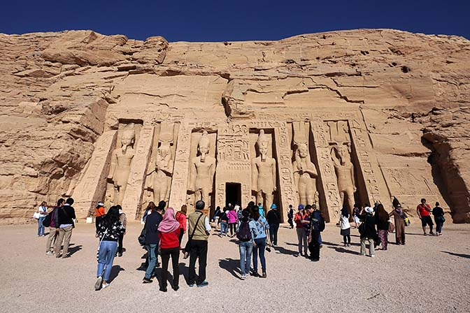 The Small Temple of Nefertari, the great royal wife of Ramesses II, Abu Simbel 2017