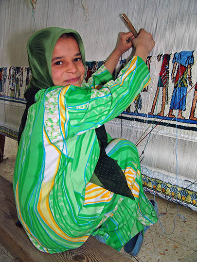 A young student in a carpetry school, Cairo 2006