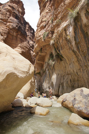 Cooling off in the pools along the wadi, 2014