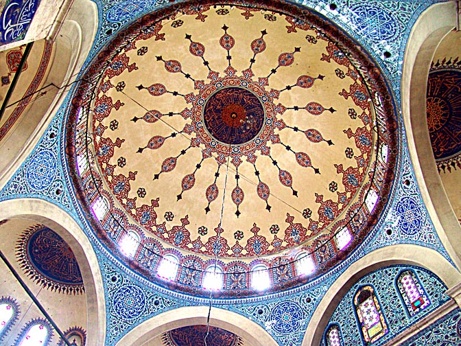 The Painted dome and mosaics inside the Kadirga Sokullu Mosque, 2006