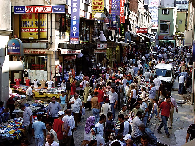 A noisy and active mixed commercial area, 2003