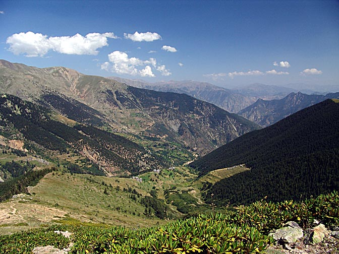 The view on the ascent to the Kachkar ridge from Bahral, 2005